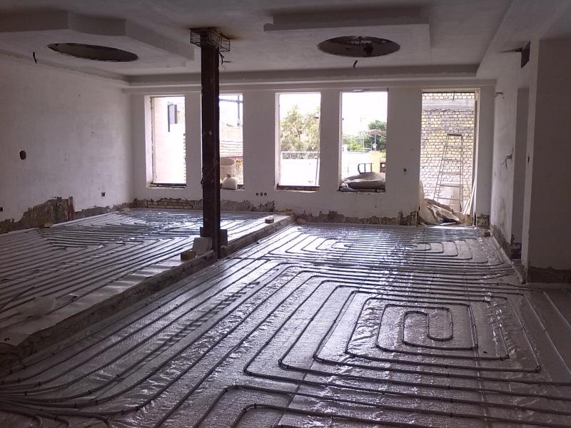 گرمایش از کف منازل بازسازی شده