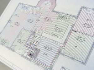 نقشه گرمایش از کف