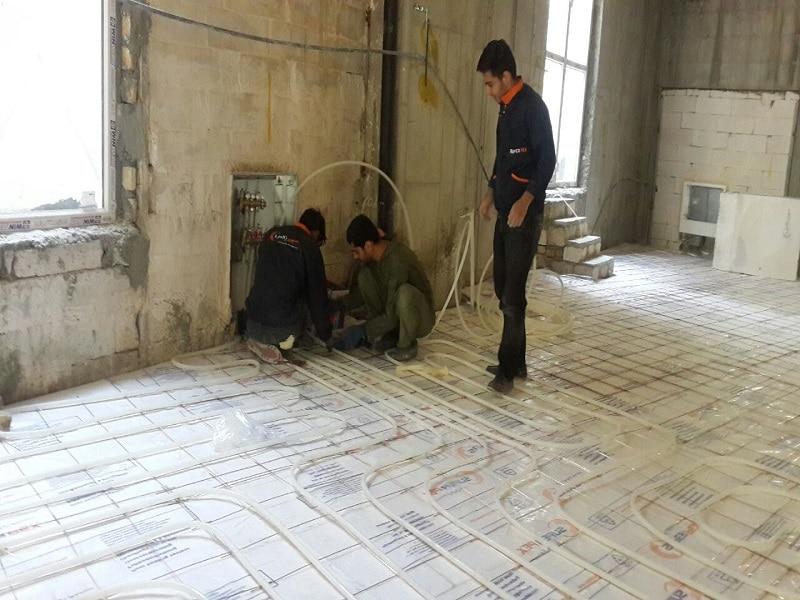 نمونه گرمایش کفی تهران