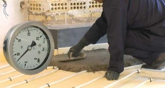 بتن ریزی گرمایش از کف