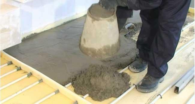 بتن روی لوله های گرمایش از کف